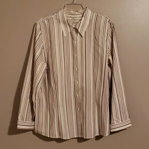 Beautiful Talbots Striped Blouse